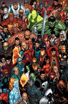 Marvel Heroes. The gang's all here.