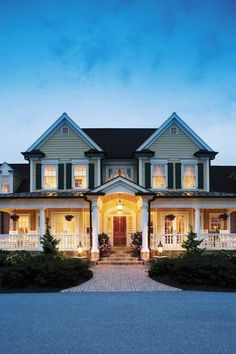Gorgeous wrap-around porch and gorgeous house!!