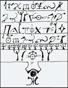 Asmodeux Codex from Forrest Aguirre , Accidental Mysteries, 10.20.13: Asemic Writing, Open to Interpretation: Design Observer