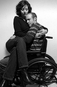 nice to see that even though a person has a disability there spouse is still there with them
