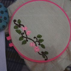 My first embroidery ribbon