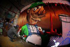 Luigi in progress by @hista_graffiti in France (http://globalstreetart.com/hista).