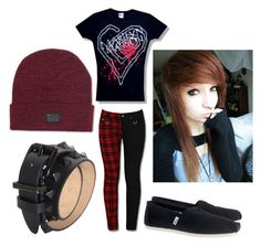 """""""Outfit16"""" by alternative-outfits ❤ liked on Polyvore featuring TOMS, HUF and Barbara Bui"""