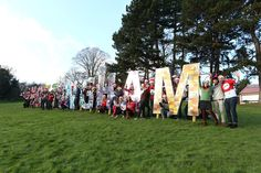 Our famous Nottingham sign gets bombarded by Christmas jumpers.