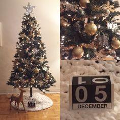 Gold Christmas, Christmas Tree, December, Spirit, Holiday Decor, Home Decor, Homemade Home Decor, Xmas Tree, Xmas Trees