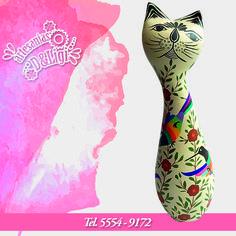 ¡Conoce más de nuestras artesanías! #artesanía #gato #flores #decoración #casa #aves #México #color