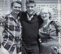 Elvis Presley with Marion Kreiker and Sam Philips (sun studio)
