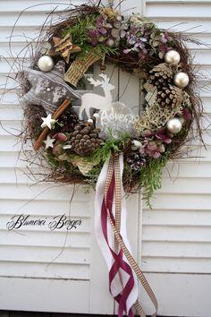 """Weihnachtsdeko - :::: Türkranz """" Advent """" :::: - ein Designerstück von BlumereiBerger bei DaWanda"""