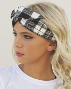 Accessories ~ Hats ~ Jordyn's Plaid Headband (SOFT FLANEL WIRE HEADBAND)
