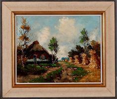 Clement van Vlaardingen 1916-1972 Boerderij met korenschoven Techniek: olieverf op doek http://www.plepsart.nl