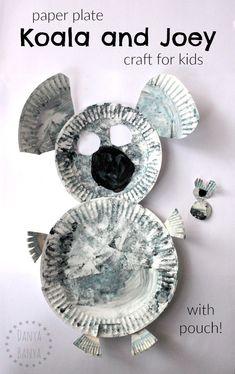 Paper plate koala (w