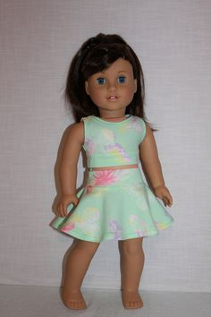 18 inch doll clothes butterfly print by UpbeatPetites on Etsy