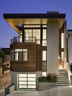 fachadas de madera natural