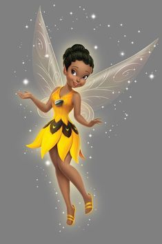 pregunta Tinkerbell And Friends, Tinkerbell Disney, Tinkerbell Fairies, Arte Disney, Disney Fairies, Disney Art, Black Love Art, Black Girl Art, Hades Disney