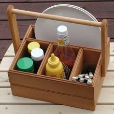Picnic Caddy ~-> might work with little modification to use with rail storage ...
