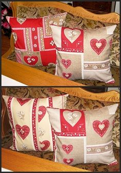 Michele used the Swiss heart fabric to do mix and match pillows- lots of fun!