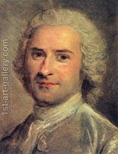 Maurice Quentin de La Tour:Portrait of Jean Jacques Rousseau, 1712-78