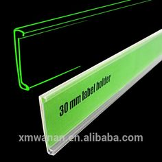 30 mm clear PVC plastic label holder or adhesive sign holder