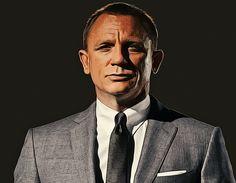 James Bond played by Daniel Craig. Photoshop by iDesignYours.com