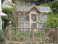 chicken coop, or a green house. I like the set up.
