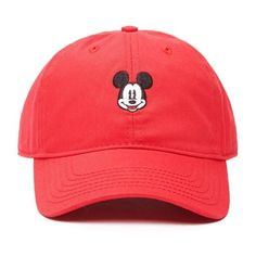 Forever 21 Women's  Mickey Mouse Baseball Cap ($11) ❤ liked on Polyvore featuring accessories, hats, forever 21 hats, ball cap, baseball caps, mickey mouse baseball hat and forever 21