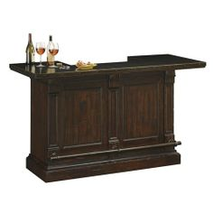 Harbor Springs wine bar cabinet by Howard Miller. The Harbor Springs rustic bar wine cabinet comes designed with a distressed metal bar top, for a unique antique feel. This wine bar and more at Rosehill Wine Cellars. Wine Furniture, Home Bar Furniture, Furniture Ideas, Royal Furniture, Mirrored Furniture, Furniture Removal, Furniture Online, Furniture Stores, Cheap Furniture