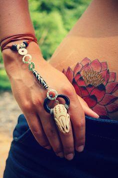 hippie, bohemian, festival, gypsy, slave bracelet: Wild Ones Slave Bracelet by Echoing Waters. via Etsy.