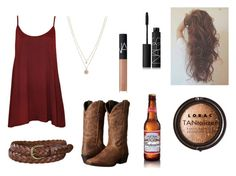 """""""Country Thunder 2"""" by jjherchenbach ❤ liked on Polyvore featuring WearAll, Laredo, Uniqlo, LORAC, LC Lauren Conrad, NARS Cosmetics and country"""