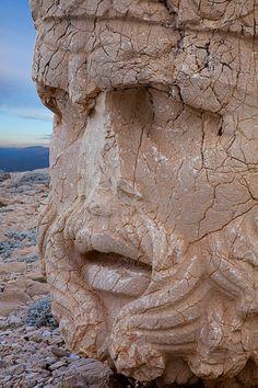 Megalithic Head  --  1st Century BCE  --  Commagene Culture  -- Mt. Nemrut, Turkey