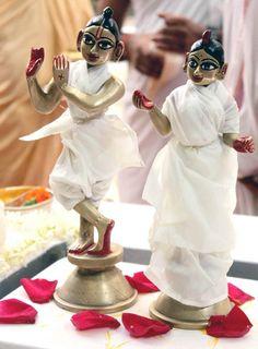 The idols of Lord Krishna and Radha at a temple in Mumbai. #Hindu #Festival #India