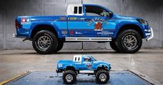 The Toyota Hilux becomes an RC car for grown-ups (batteries not required) This is your pickup truck if you grew up dreaming of being able to drive a life-sized, remote-controlled car. You've grown up