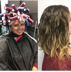 Beach Wave Perm – before and after – robert gentle – Beach Wave Perm – before an… – Zita Bretherton - Perm Hair Styles Big Curl Perm, Loose Wave Perm, Boucle Wavy, Beach Wave Perm, Beach Waves, Permanent Curls, American Wave, Medium Hair Styles, Curly Hair Styles