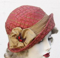 Womens Hat Downton Abbey Cloche Hats for Women Vintage Inspired Winter Hats…