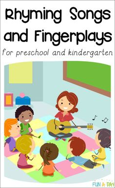 of the Best Rhyming Songs for Preschool - use songs to teach rhyming in preschool and kindergarten Favorite fingerplays and rhyming songs for preschool teachers and parents to use with the kids.Great for kindergarten children learning to rhyme, too. Kindergarten Songs, Preschool Songs, Preschool Learning, Preschool Circle Time Songs, Preschool Transitions, Movement Songs For Preschool, Transition Songs For Preschool, Elementary Music Lessons, Preschool Class