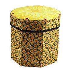 Pineapple 3d Seat Storage Cube Footstool Stool Lovely Fruit Ottoman Stool,  Cute Cartoon Design ,