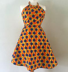 Orange dress - Ankara / African print by Carberry and Noel African Fashion Designers, African Print Fashion, African Fashion Dresses, Fashion Outfits, African Prints, Nigerian Fashion, African Outfits, Ankara Fashion, Fashion Skirts