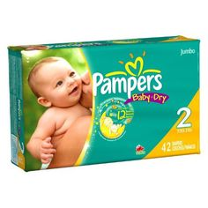 Pampers Baby Dry Diapers, Jumbo Pack, Size 2, 42 Count (Pack of 2)