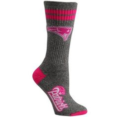 New England Patriots Ladies Marble Tall Socks - Gray/Pink