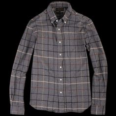 UNIONMADE - Beams+ - Button Down Shaggy Check Shirt in Grey ($168.00) - Svpply