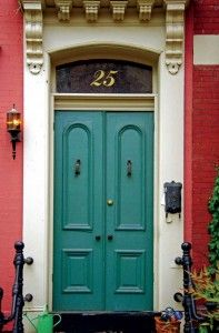 As with their interiors, Victorians didn't skimp on decking out their entryways. Arched-panel double entry doors were popular on styles from Second Empire to Italianate, and often were embellished with torch-style lights (which once burned gas) to warm the front steps, plus mail slots or boxes displaying echoes of the era's fine filigrees.