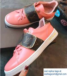 Louis Vuitton Monogram Canvas Frontrow Sneakers 1A2VZF Pink 2017