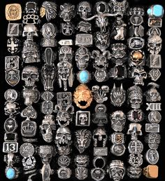 Steampunk Accessories, Jewelry Accessories, Fashion Accessories, Cute Jewelry, Women Jewelry, Jewlery, Beard Jewelry, Vampire Teeth, Biker Rings
