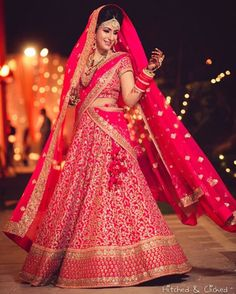 See more from this stunners wedding on WedMeGood.com ! See link in bio for all the details . Pic : @hitchedandclicked  #lehenga #indianbride #indianwedding #weddingday #bridal #brides #pink #gold #twirl #indianwear #indianfashion