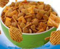 Pretzel sticks and Sunshine® Cheez-It® Original crackers lend flavor, shape, and texture to this savory version of the classic Crispix Mix®.
