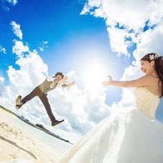 ドラゴンボール・かめはめ波のウェディングフォトの撮り方   marry[マリー]