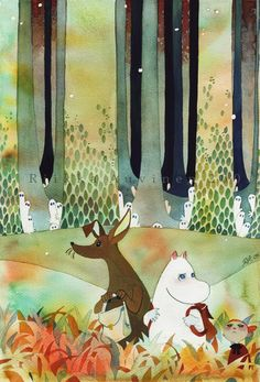 "Awww! Moomin! I used to love it growing up. ""Did you hear something"" by *tir-ri"