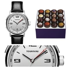 Travel the World through Chocolate with the World Traveler Watch. Exotic Truffle Collection & Tourneau TNY Series 40 GMT Automatic