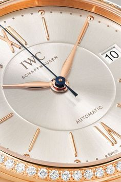 IWC SCHAFFHAUSEN - Portofino Automatic 37 Alligator, 18-karat Red Gold And Diamond Watch - Rose gold - one size