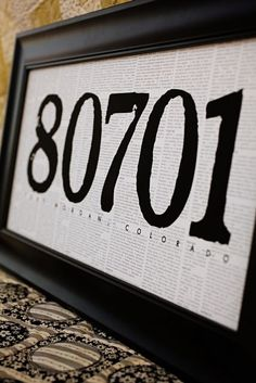 Newsprint address sign...cute...or could have family name!