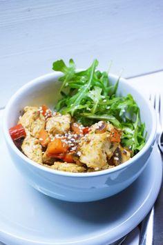 Hühnchen-Gemüse-Wok